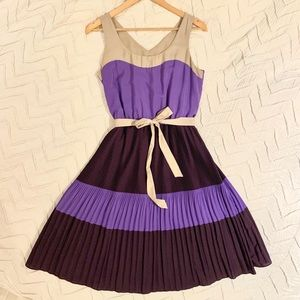 Purple pleated dress (The Limited)